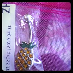 Pineapple belly ring